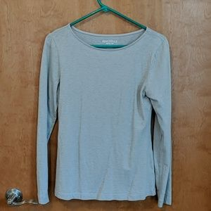 Gray j crew mercantile long sleeve shirt
